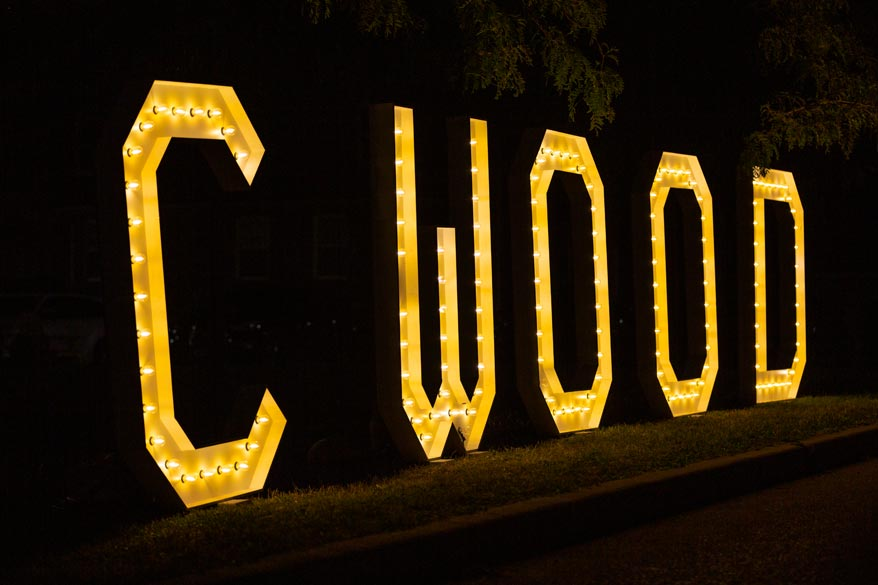 Illuminated CWOOD at The Tremont. Photo: Will Skol