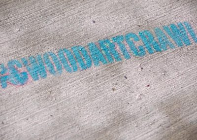 Stencil on the sidewalk. Photo: Will Skol